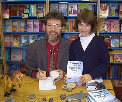 Image of Peter visiting Ottakar's Bookshop, Petersfield, Hampshire