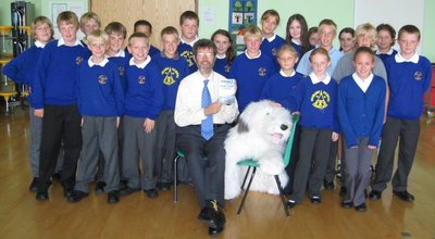 Image of Peter visiting Churchill Primary School, North Somerset