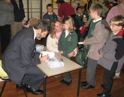 Image of Peter visiting Shalfleet Primary School, Newport, Isle of Wight