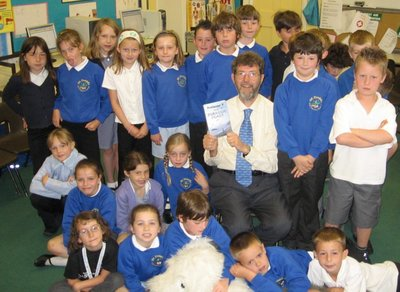 Image of Peter visiting St David's Primary School, Exeter