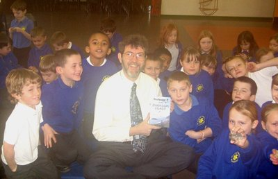 Image of Peter visiting St Mary's Primary School, Beaminster, Dorset