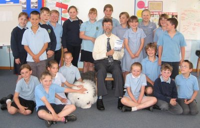 Image of Peter visiting St Mary's Primary School, Timsbury, Bath