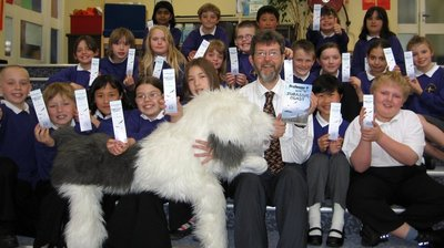 Image of Peter visiting St Sidwell's Primary School, Exeter, Devon