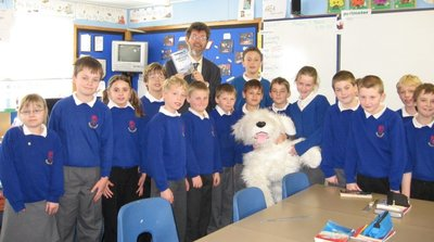 Image of Peter visiting Ashcott Primary School, Somerset
