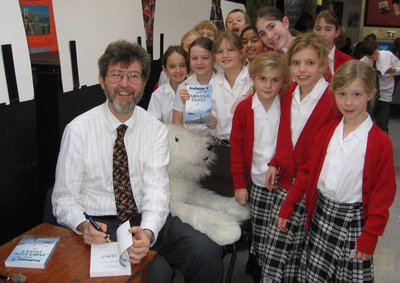 Image of Peter visiting Downsend School, Leatherhead, Surrey