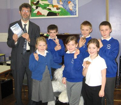 Image of Peter visiting Widewell Primary School, Plymouth, Devon